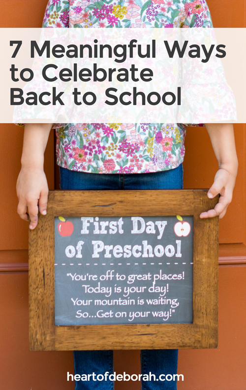 Back to school is here! Enjoy back to school with your kids this year using these 7 fun ideas to connect and celebrate. Have a wonderful first day of school.