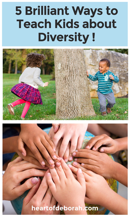 5 brilliant ways to teach kids about cultural diversity. America is often called a melting pot and we live in a more diverse culture than ever before. Celebrating cultural diversity with our kids is so important. Here are great practical ways to expose your children to different customs, countries, races, etc.