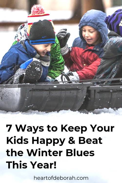 Winter doesn't have to be boring! Here are 7 ways to keep your kids happy this winter and beat the winter blues as a stay at home mom.