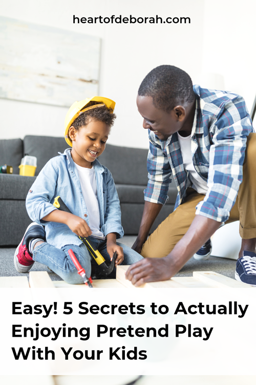 Pretend play is boring! How do I engage in imaginative play with my kids when I don't like it? Here are 5 ways to actually enjoy dramatic play with your kids!