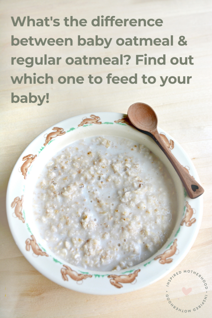 Ever wonder what kind of oatmeal to feed your baby? This post explains the difference between steel cut oats versus rolled oats. Also includes a baby oatmeal recipe!