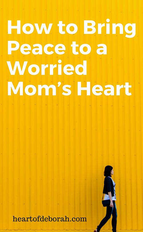 For me, my fear came down to trust. Did I trust God to watch over my our children? I found peace by going through these three easy steps. My worried mom's heart slowly disappeared and I experienced joy in parenthood instead of fear. #parenting #christianparenting #proverbs31