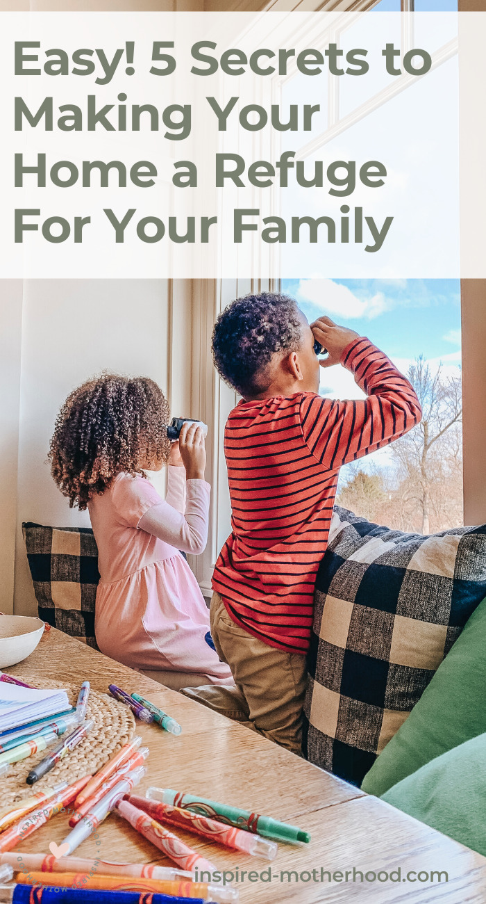 A peaceful home makes a big difference in your mood and your child's behavior. Learn 5 easy steps on how to build a happy home with a peaceful atmosphere for kids to grow and learn!