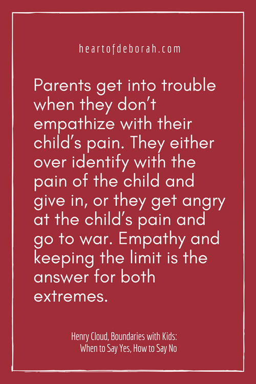Awesome quote on boundaries with kids!