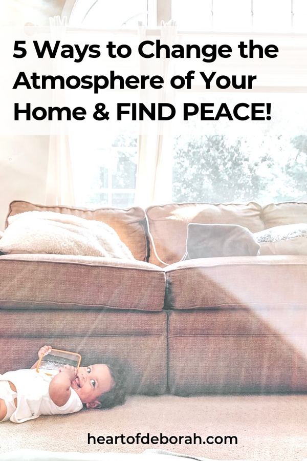What makes a happy home? I've felt the difference! I know a peaceful, happy one when I walk through the front door. Here are 5 easy steps to turn your ordinary home into a happy home! #momhacks #parenting #positiveparenting #homemaking #motherhood