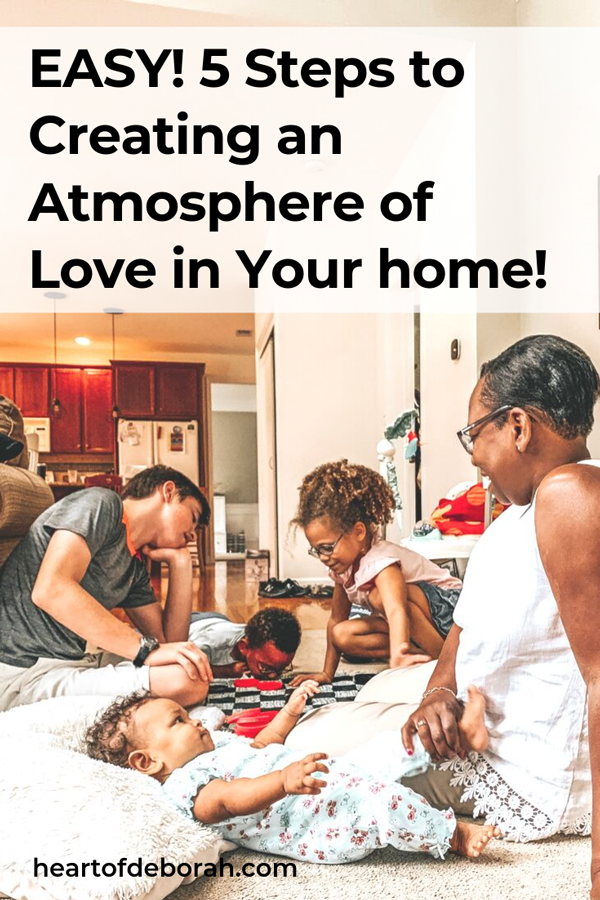 You can build a happy home! It doesn't need to feel chaotic or crazy. With these simple 5 steps you can transform the atmosphere of your home in no time.