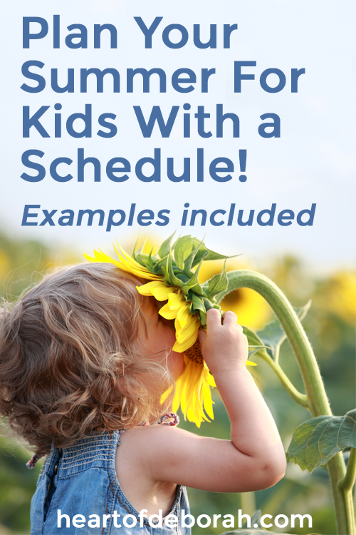 Looking for some summer activities for your kids? Try planning your day with this easy schedule! Also included are ideas to fill in the time. #parenting #motherhood #summerwithkids #summer