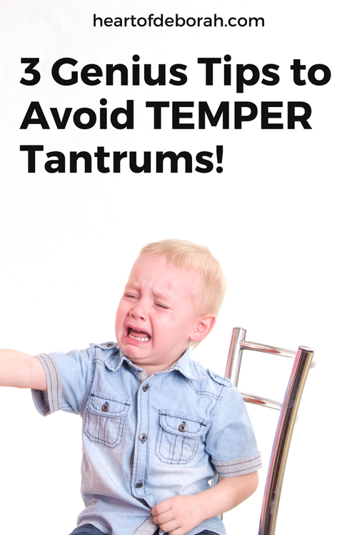Avoid temper tantrums with your child by using these 3 genius parenting tips! The terrible twos don't need to be terrible! You can take care of the public meltdowns with these steps.