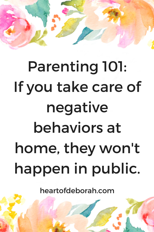 If you take care of negative behaviors at home, they won't happen in public. Genius ways to deal with toddler temper tantrums!