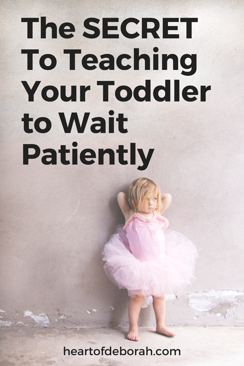A simple way to teach your child to patiently wait when you can't meet their requests right away! Parents this tool can make your life so much easier.