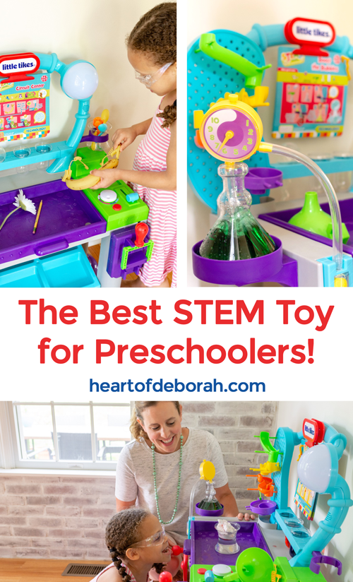 The best STEM toy for preschoolers! Learn, experiment, play with this hands-on toy. Perfect for preschool exploration of science and math.