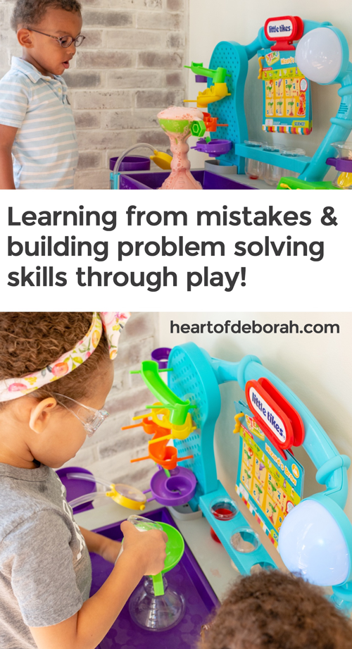 Mistakes aren't always a bad thing! You can use these moments to build problem solving skills in kids. Find out how to build their confidence with trial and error!