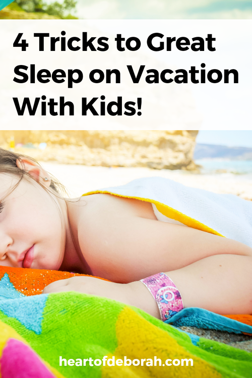 Traveling with kids? Make sure everyone gets a good night sleep with these parenting tips for getting your kids to sleep well on vacation.