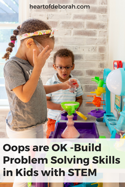 Use kid's mistakes as learning opportunities! Model and teach problem solving skills in kids with these techniques.