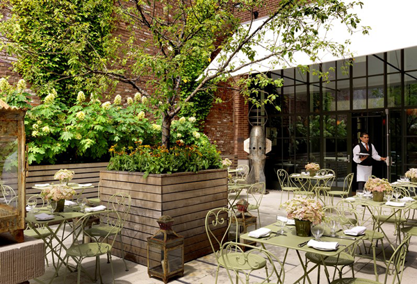 The Crosby Street Hotel Terrace, the most beautiful hotel in SoHo!