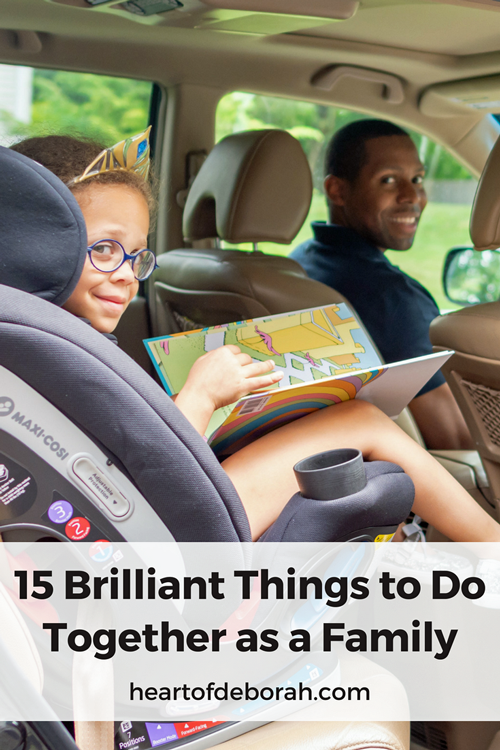 Find time to enjoy each other! Here are 15 easy and affordable activities for families to do together. Spend quality time with your kids!