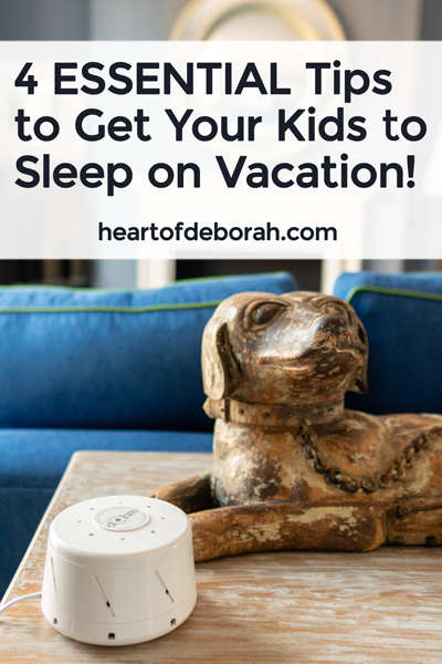 You can get sleep on vacation with kids! Here are 4 essential travel tips for young children. How to get your kids to sleep while traveling to new places!