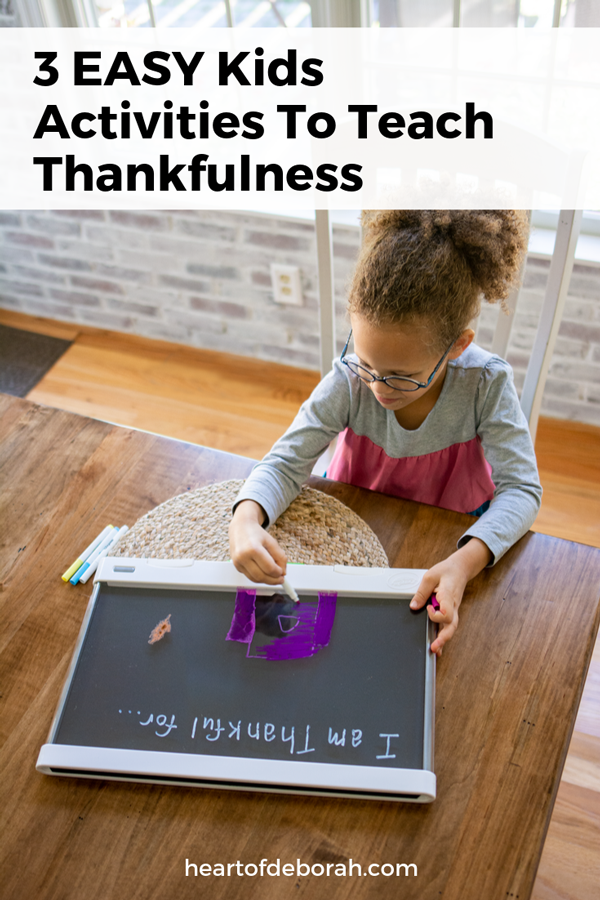 Teach your kids about gratitude this Thanksgiving with these 3 easy kid's crafts. Your kids will love decorating a gratitude jar, gratitude journal and light up board of thanks!