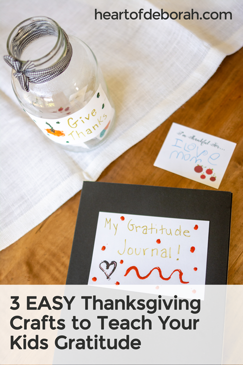 Looking to raise grateful kids in an entitled world? Try making a gratitude journal or another of these EASY Thanksgiving crafts.