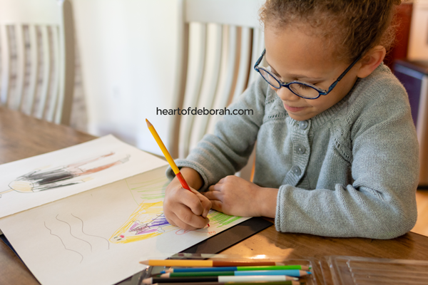 If you child is too young to write in a journal buy one with blank pages! They can still make a gratitude journal by drawing pictures of what they are thankful for.