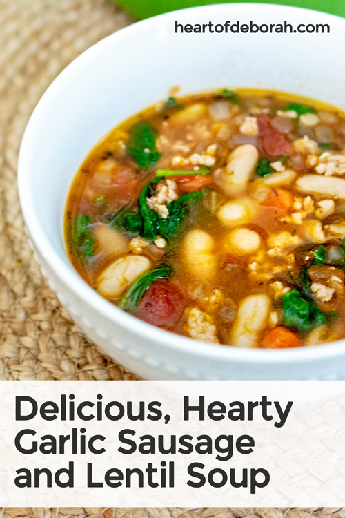 Looking for a healthy soup recipe your kids will love? They won't even notice the veggies in this recipe. Try our sausage and lentil soup for dinner.