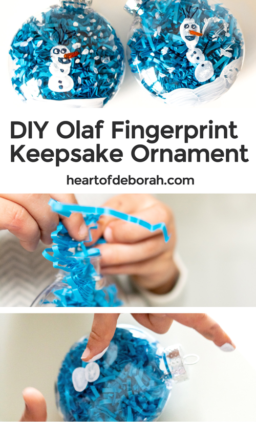 Make your own keepsake ornament this Christmas! Create a Frozen themed Olaf fingerprint ornament with your toddler or preschooler. An adorable and easy holiday kid's craft!