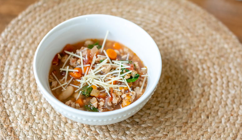 Your kids will love this delicious dinner recipe. Try our sausage and lentil soup filled with veggies and good nutrients.
