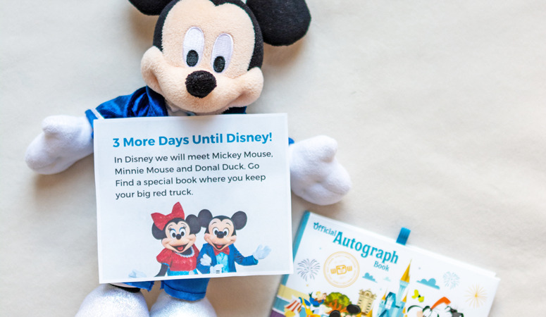 Want to get your kids excited for their first Disney vacation? Make a DIY Disney countdown calendar to count down the days until vacation.