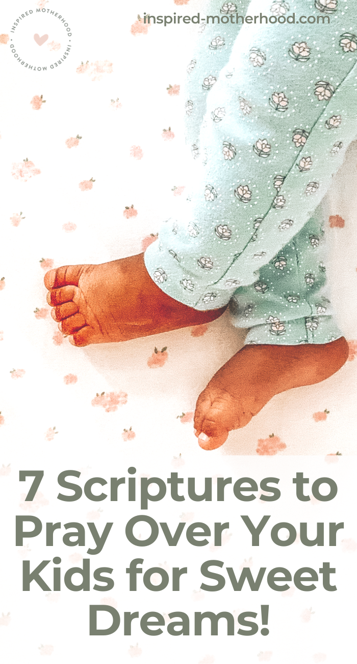 Prayers for bedtime! Here are scriptures to pray over your children for sweet dreams and to overcome bad dreams. Print out the scripture cards and hang them up!