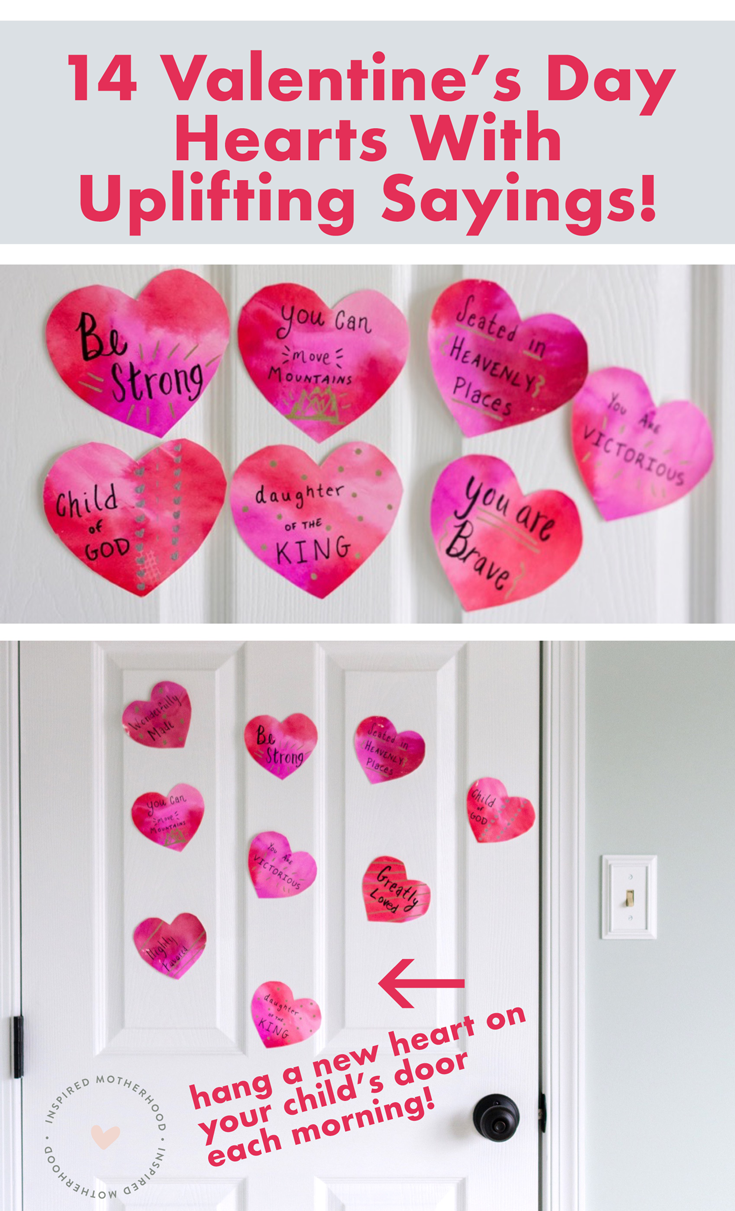 Shower your kids with love and positive affirmations this Valentine's Day. Here are 14 uplifting sayings and a fun way to celebrate in the month of February.