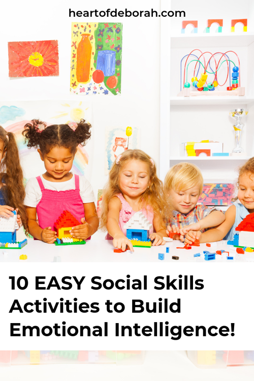10 Easy social skills activities to teach your kids vital social emotional skills. Practical way to raise an emotional intelligent child.