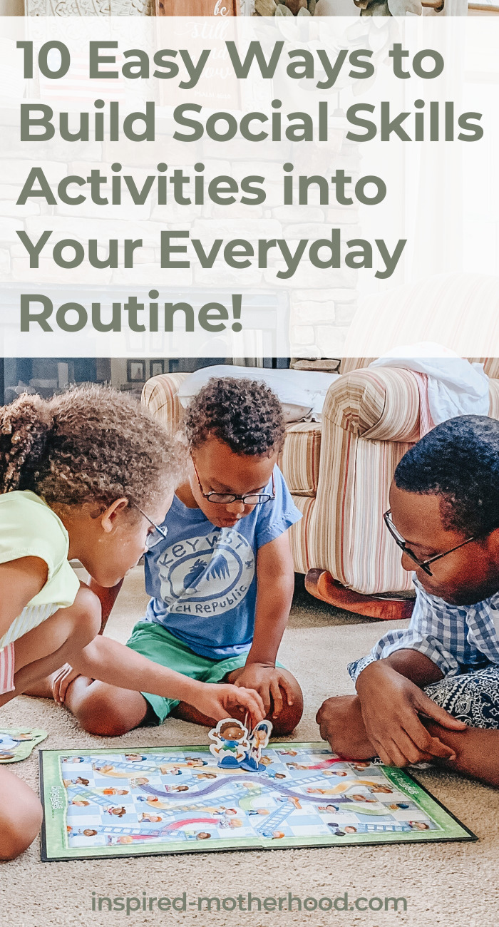 You can build social skills activities in to your everyday routine. You don't need anything special to start building your child's emotional intelligence. A School Psychologist gives you 10 easy activities to add into your preschoolers life.