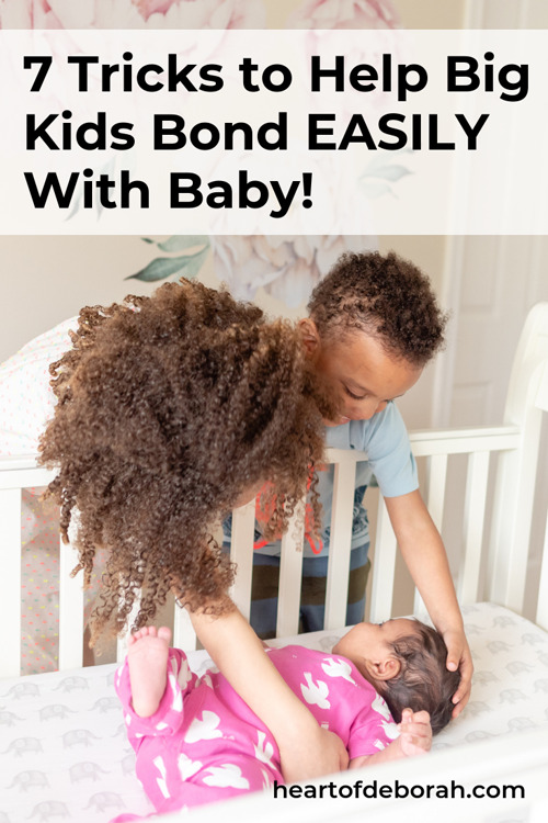 Expecting a new baby in your family? Help the big siblings embrace the new baby with these 7 meaningful ways for your kids to connect and bond with the new baby. I love trick number two!