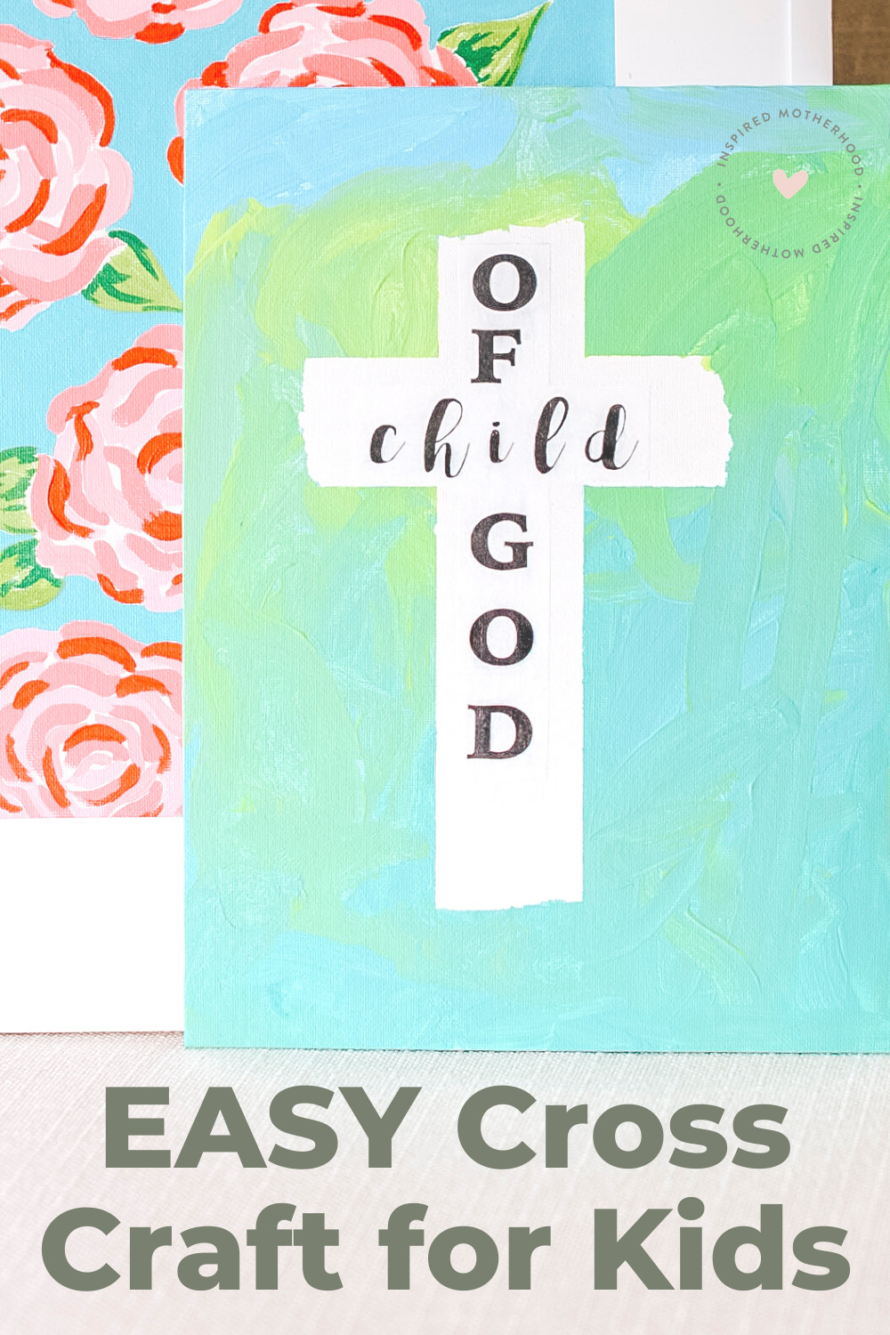Make this easy cross craft on canvas and you are left with a frameablepiece of artwork. A great faith based Easter craft or activity all year round.