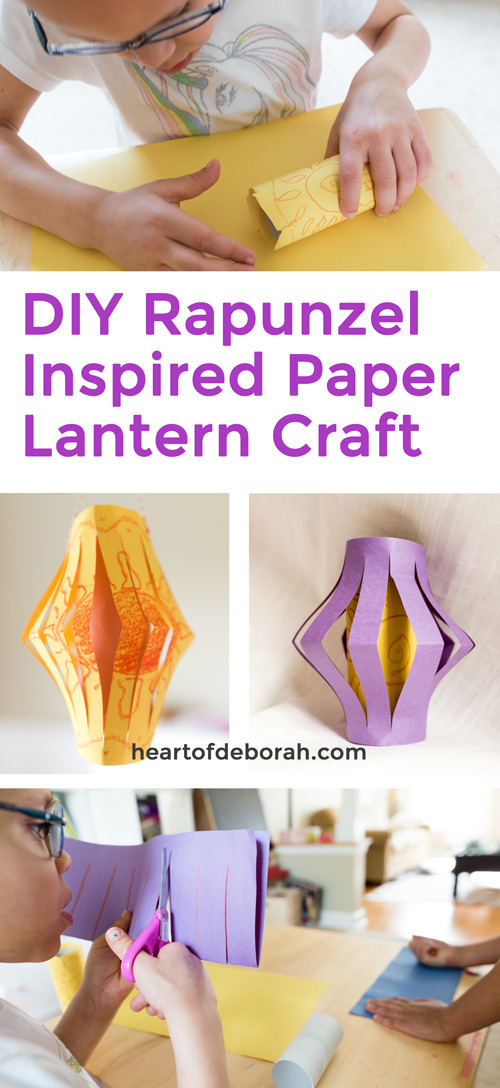 How fun! These DIY Rapunzel Inspired Paper Lanterns are so easy to make. Your preschooler will love making her own lantern with this craft.