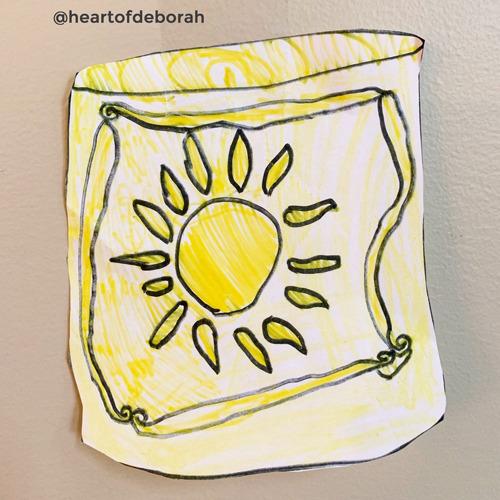 Kid's craft idea, draw your own Rapunzel inspired lanterns!