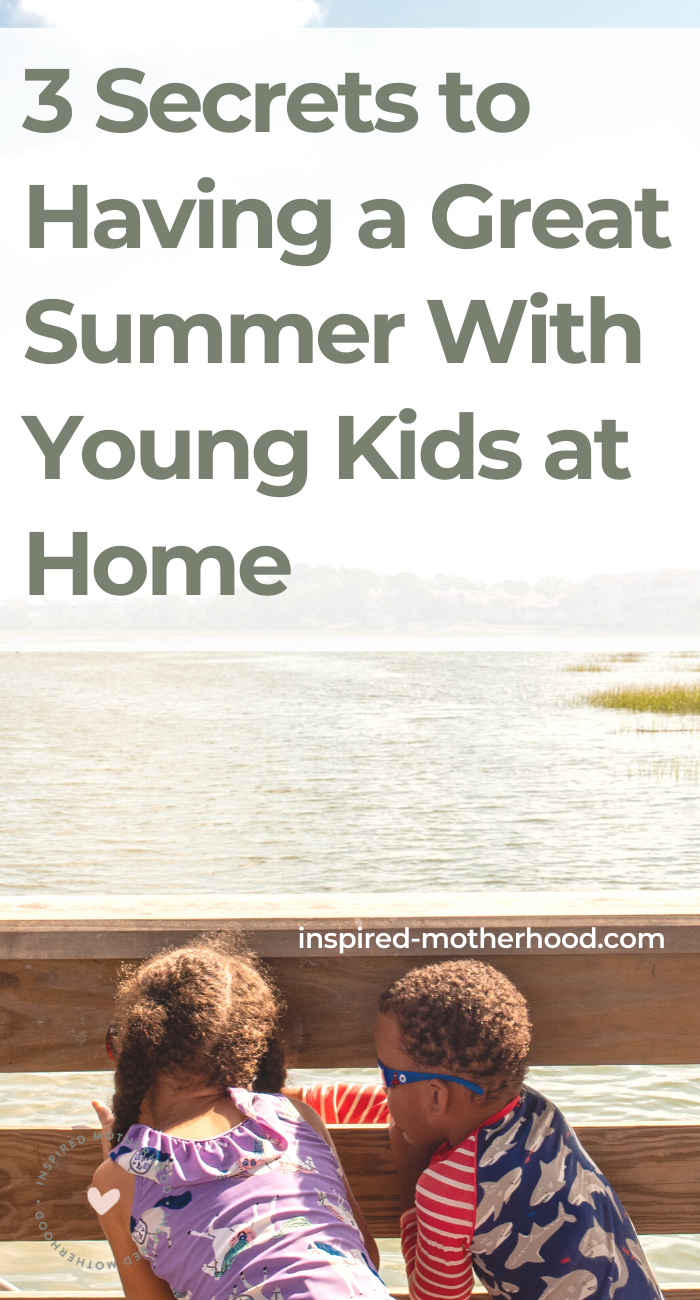 Do you need a summer schedule with small kids? Here is one mom's advice on how to create a structured summer while keeping it fun for kids at home.