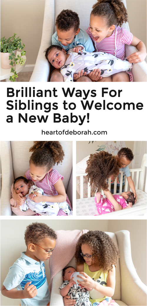 Welcome a new baby into your home with love. Encourage a strong sibling relationship with these simple tasks, jobs and tricks!