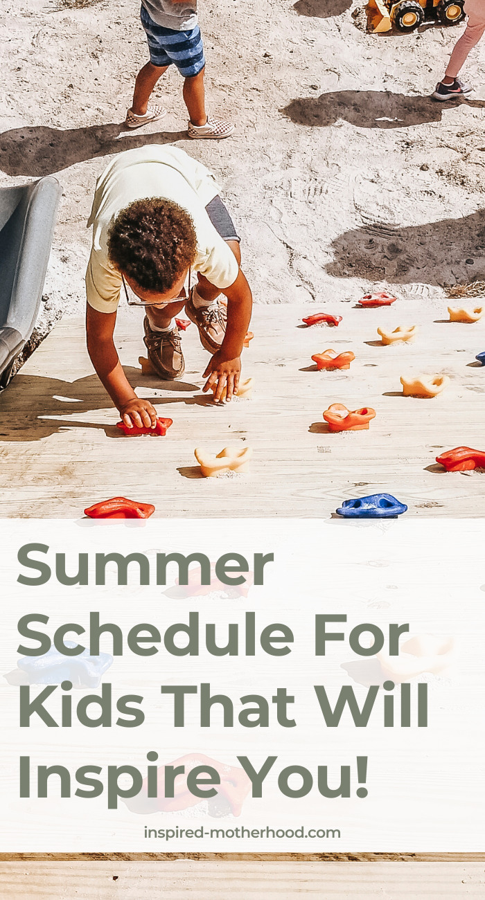 Looking for some summer activities for your kids? Try planning your day with this easy schedule! Also included are ideas to fill in the time.