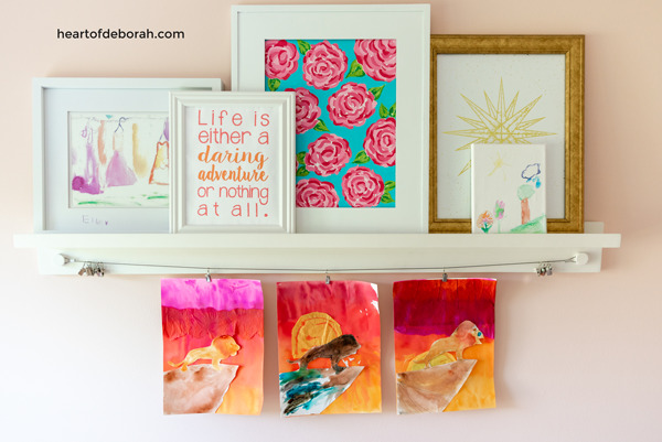 Do your kids love The Lion King? Make this EASY Lion King kids craft with tissue paper watercolor. Your kids will have a blast making this sunset poster with pride rock!