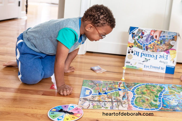 What a fun idea! Play a board game together for quality time with your young kids.