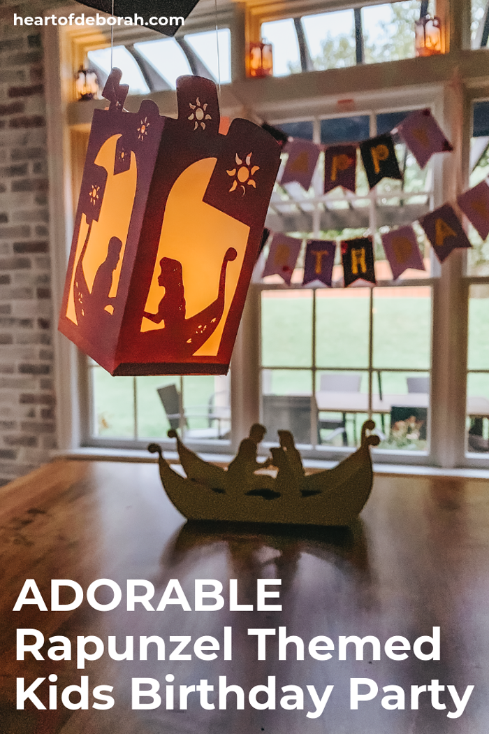 Adorable lanterns from the Tangled movie! Read all the details on how to throw your own Rapunzel themed kids birthday party.