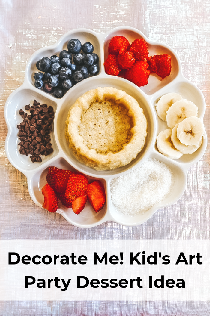 Make your own dessert. Perfect idea for a kids birthday party who loves art. Get a palette and decorate your own mini cake.