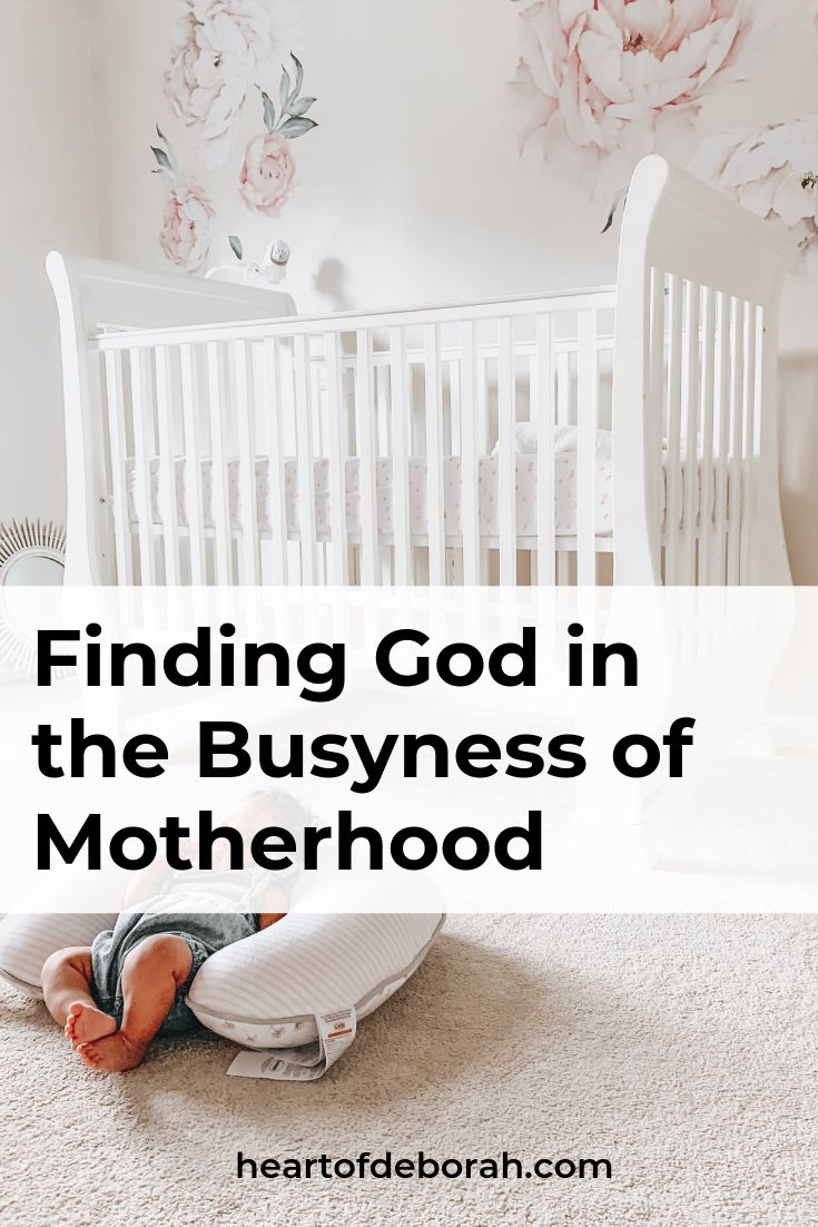 Being a mom is a lot of work! How do we find time to sit with God in the busyness of life? Encouragement for moms.