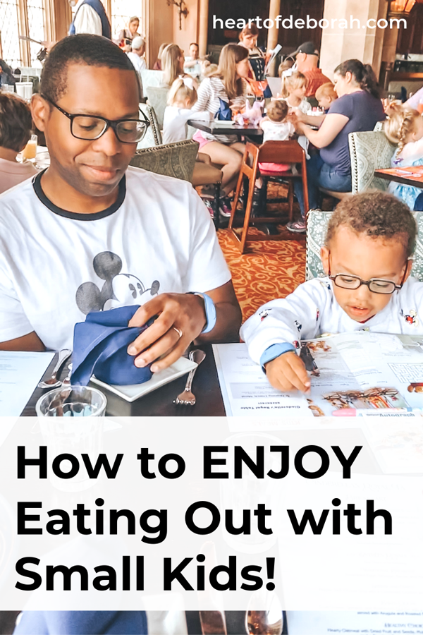 Want to go out to eat but worried about your rowdy toddler? Here are 5 tips for dining out with toddlers! You can do this and enjoy dinner out with small kids.