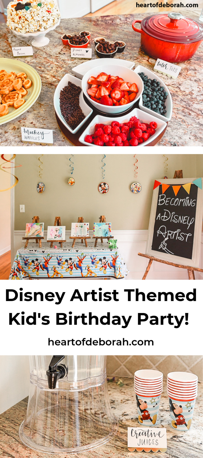 Throwing a Disney party? Check out this adorable kid's birthday party with a Mickey waffle bar!