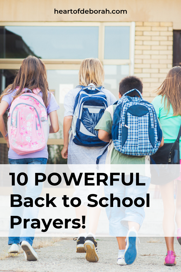 These are awesome back to school prayers! Use these sample prayers to claim God's promises over your kids this school year.