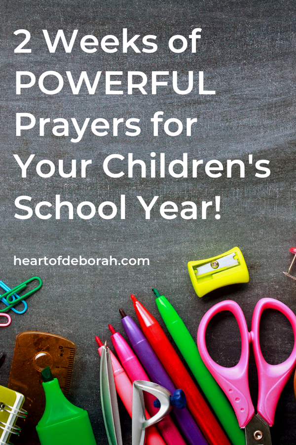 Back to school prayers to pray over your children! Claim a year of protection, love of learning and growth. Use the scripture to pray for a great school year.