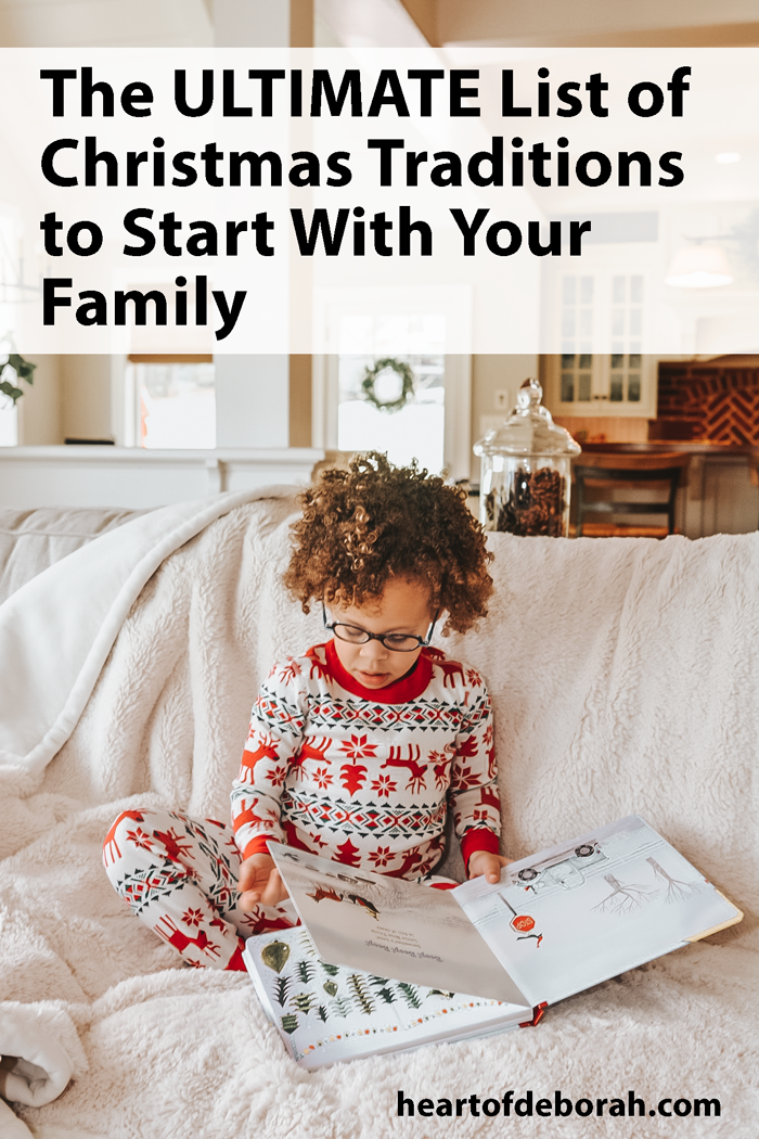 10 BRILLANT family traditions to start this Christmas. I love number 5!