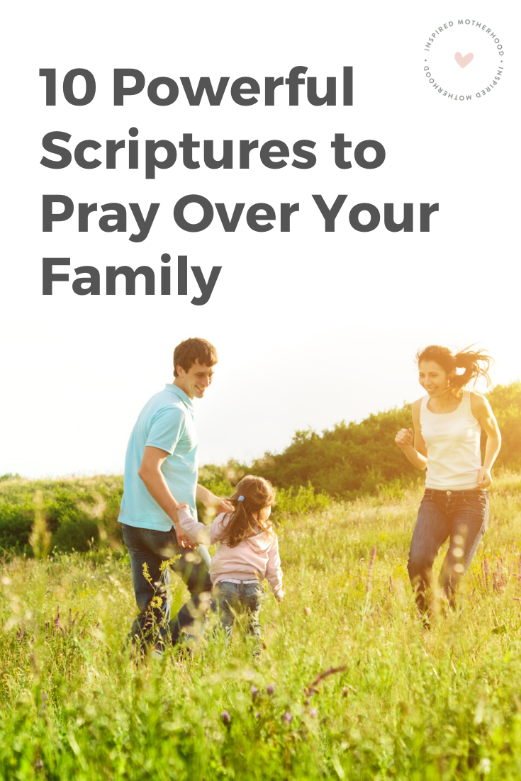 Here are 10 scriptures and prayers to pray over your family. Free Printable with Daily Prayers Included! Pray daily for your children using these scriptures.
